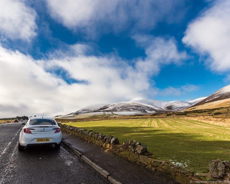 driving to England Scottish Borders