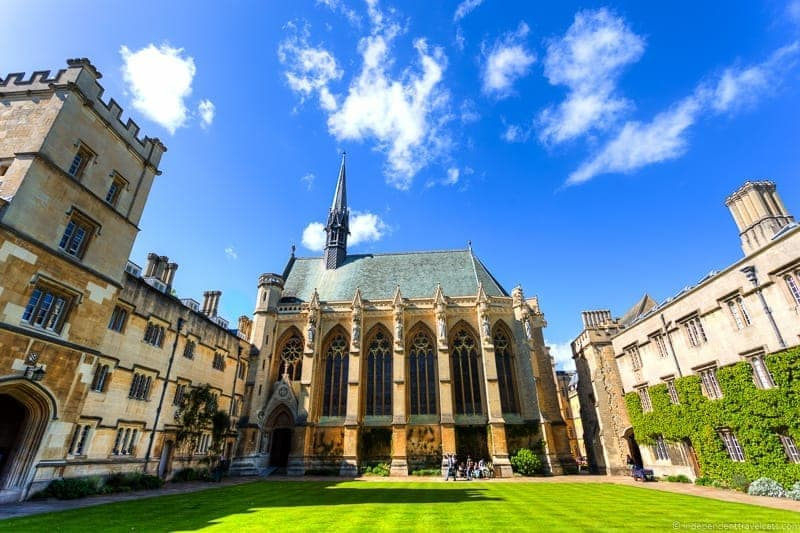 Exeter College Oxford day trip from London England UK