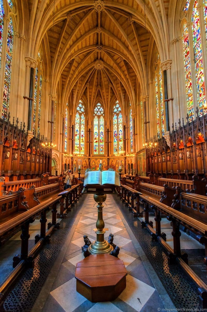 Exeter College chapel Oxford day trip from London England UK
