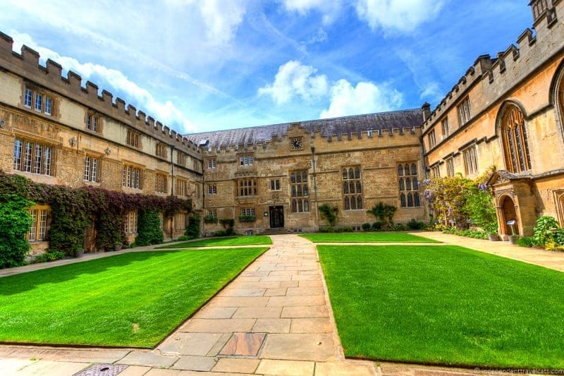 Jesus College Oxford day trip from London England UK