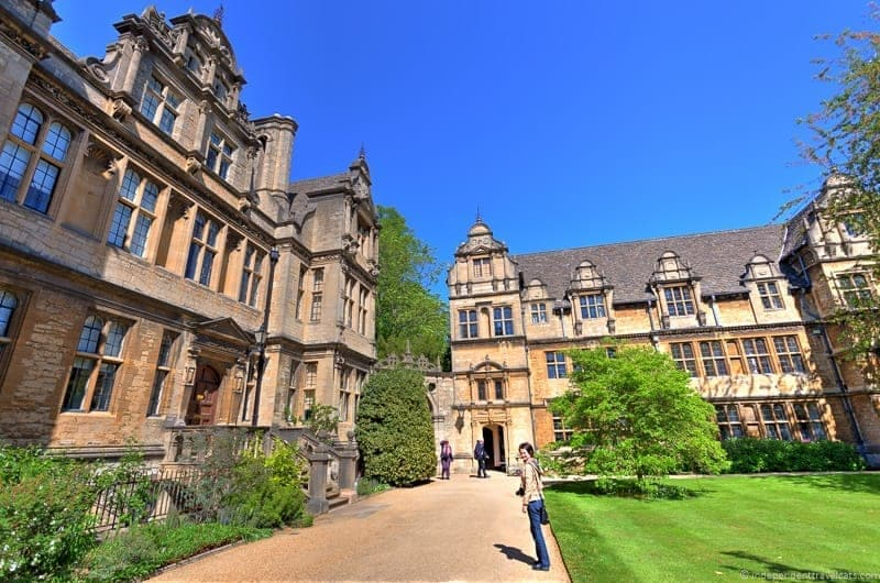 Trinity College Oxford day trip from London England UK