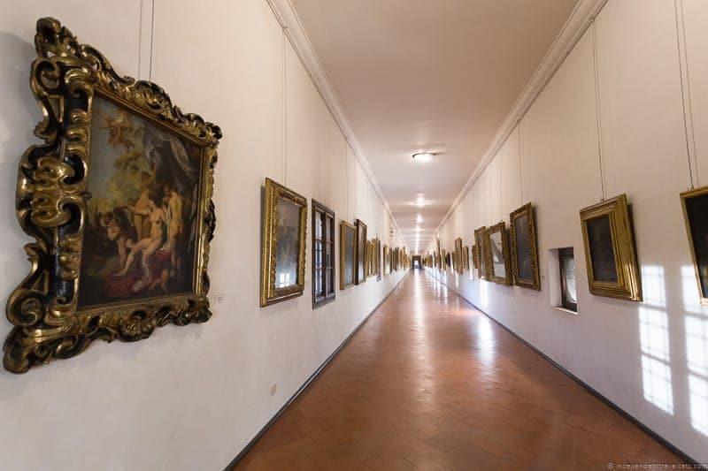 Inside the Vasari Corridor Florence Italy Medici