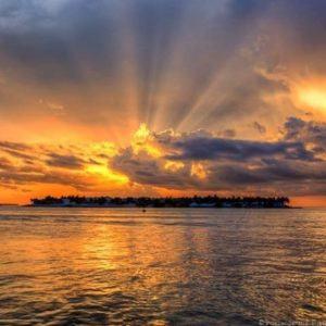 Sunset over Sunset Key in the Florida Keys. In Key…
