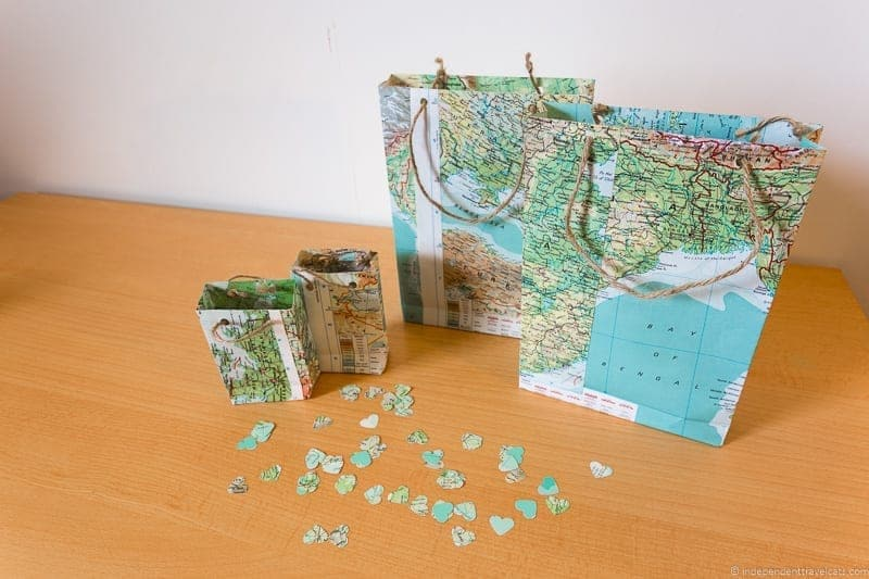 map gift favor bags plan travel themed wedding destination wedding inspiration ideas products