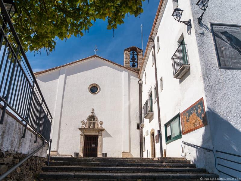 church at Santuari Els Àngels Salvador Dalí in Costa Brava Spain
