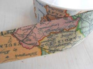 map ribbon travel themed wedding destination wedding