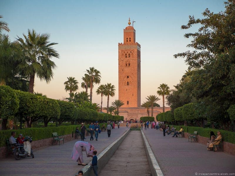 Koutoubia Mosque things to do in Marrakesh Morocco Marrakech