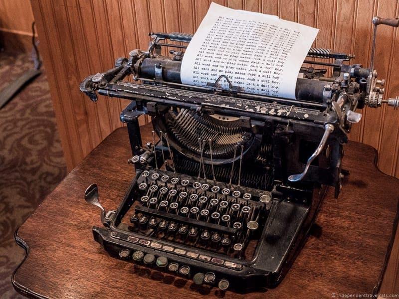 The Shining typewriter The Stanley Hotel Estes Park Colorado