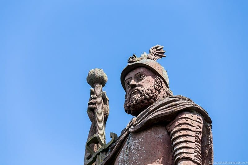 original William Wallace statue Scottish Borders highlights travel Rabbies