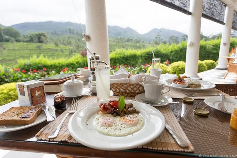 breakfast Ceylon Tea Trails Sri Lanka hotel resort Tea Country