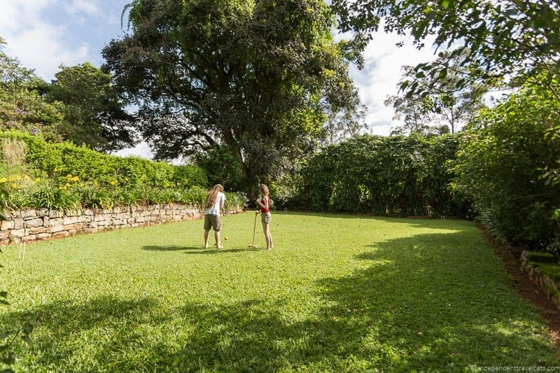 croquet Tientsin Ceylon Tea Trails Sri Lanka hotel resort Tea Country