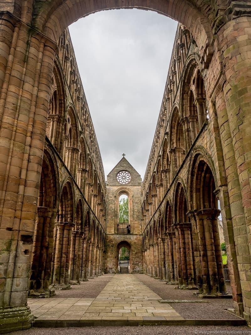 Jedburgh Abbey Scottish Borders highlights travel Rabbies