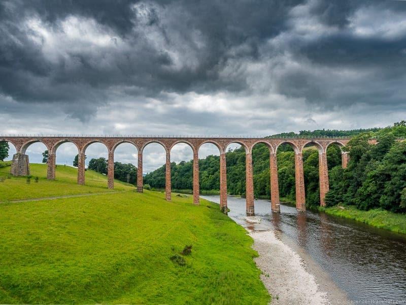 Leaderfoot Viaduct Scottish Borders highlights travel Rabbies