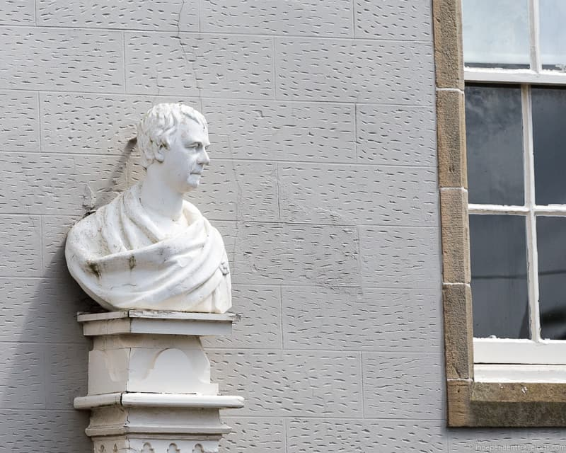 Sir Walter Scott bust Scottish Borders highlights travel Rabbies