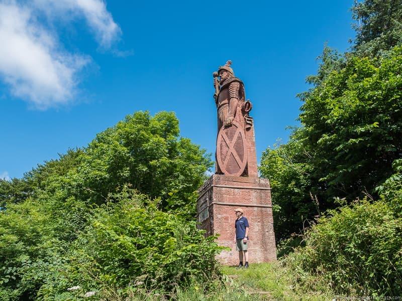 original William Wallace statue Scottish Borders highlights travel Rabbies