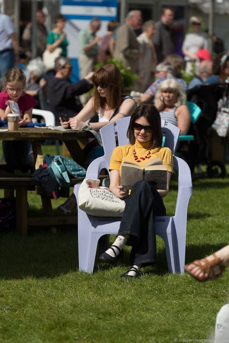 Book festival Edinburgh festivals in August guide