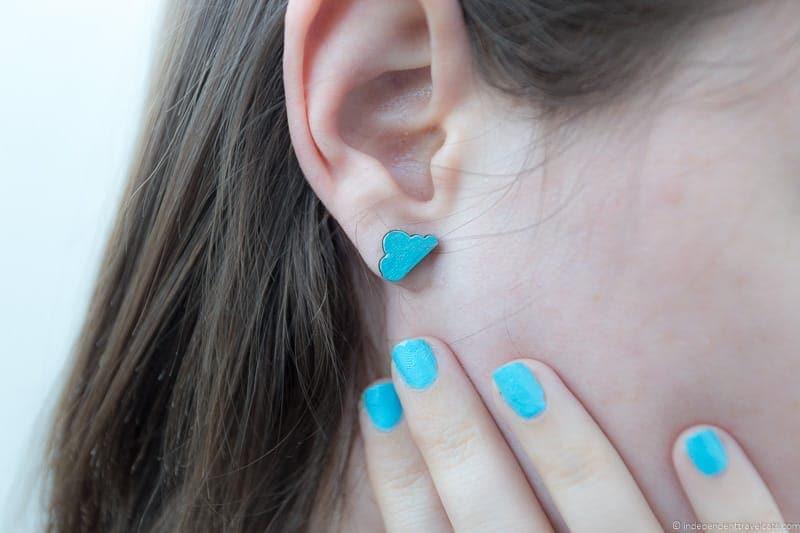 cloud earrings travel jewelry traveling inspried jewellery