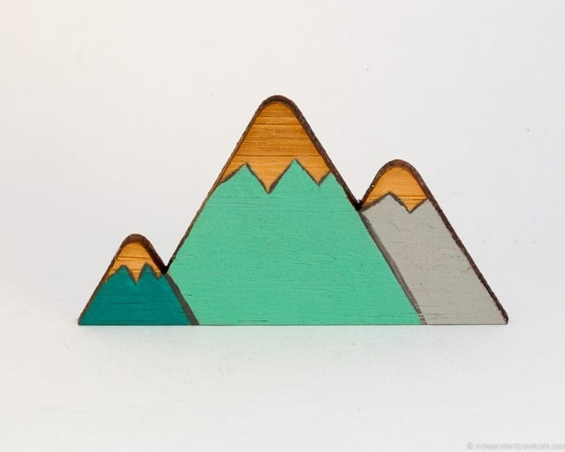 mountain brooch travel jewelry traveling inspried jewellery