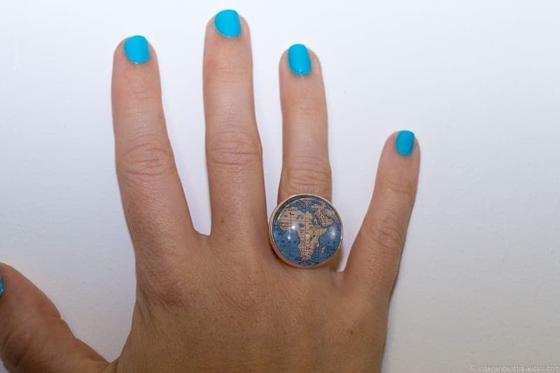 Africa ring travel jewelry traveling inspried jewellery
