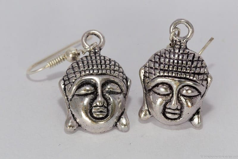 Buddha earrings travel jewelry traveling inspried jewellery
