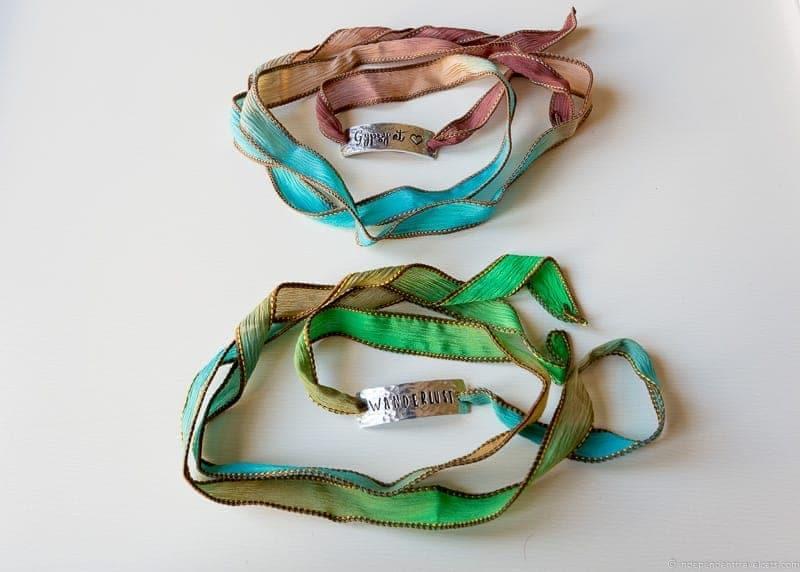 wrap silk bracelets travel jewelry traveling inspried jewellery