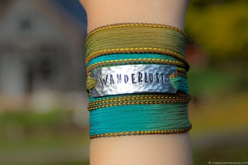 silk wrap bracelet travel jewelry traveling inspried jewellery