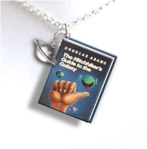 tiny book necklace travel inspired jewelry