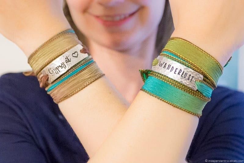 silk wrap bracelet travel jewelry traveling inspried jewellery