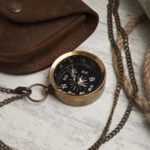 working compass necklace jewelry gift for traveler