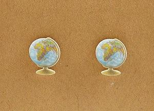 realistic globe earrings travel inspired jewelry for traveler