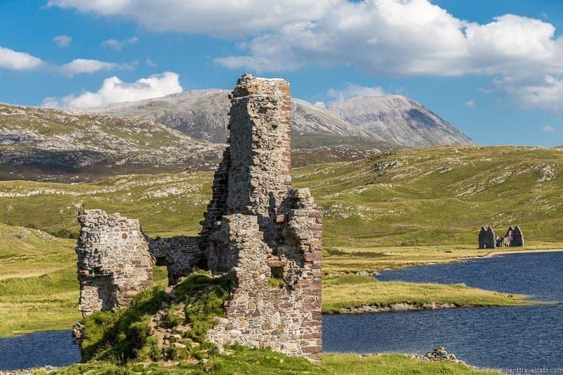 Ardvreck Castle Isle of Skye and Scottish Highlands itinerary trip Scotland