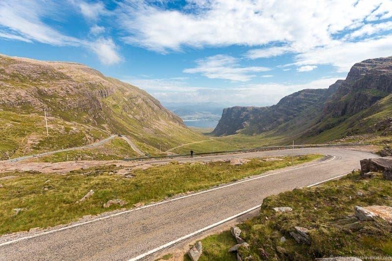Bealach na Ba road Applecross North Coast 500 itinerary Scotland