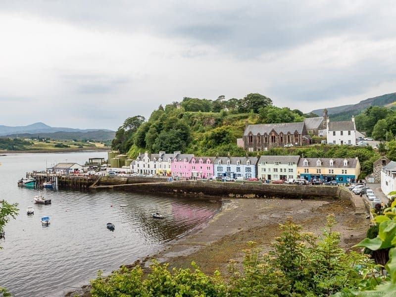 Portree Isle of Skye and Scottish Highlands itinerary trip Scotland