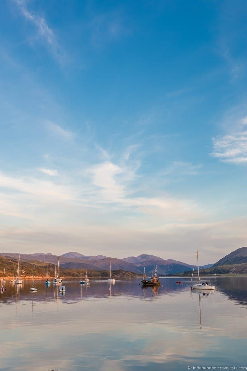 Ullapool harbor 7 day North Coast 500 itinerary Scotland