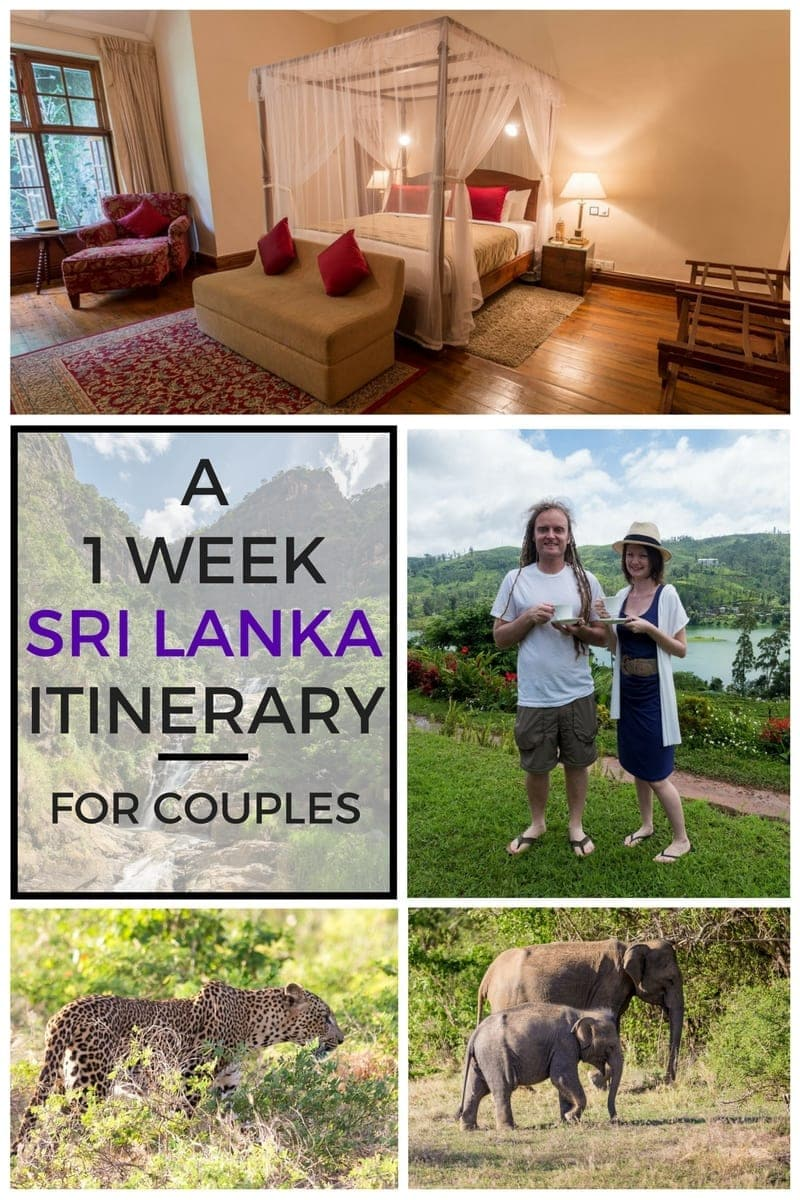 A detailed one week Sri Lanka itinerary for a couple travelling together