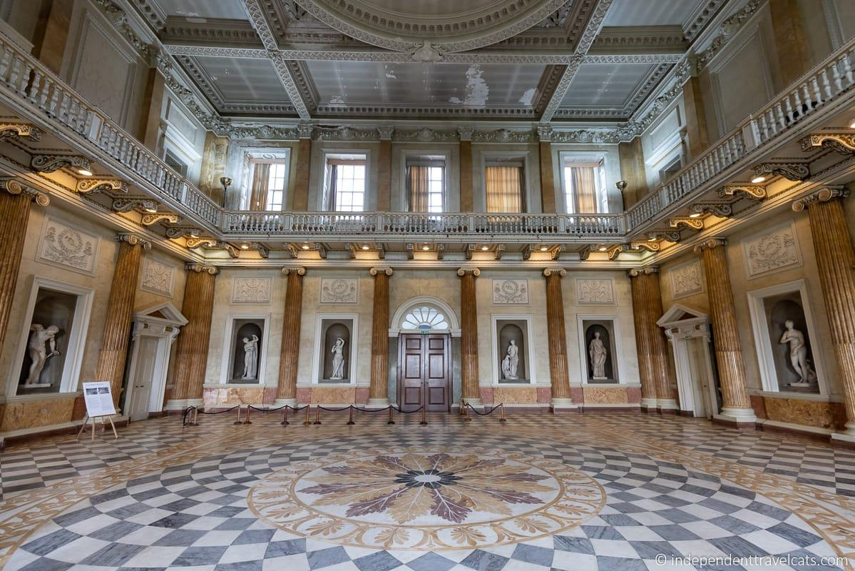 Marble Saloon Wentworth Woodhouse Downton Abbey filming location Marble Hall ballroom