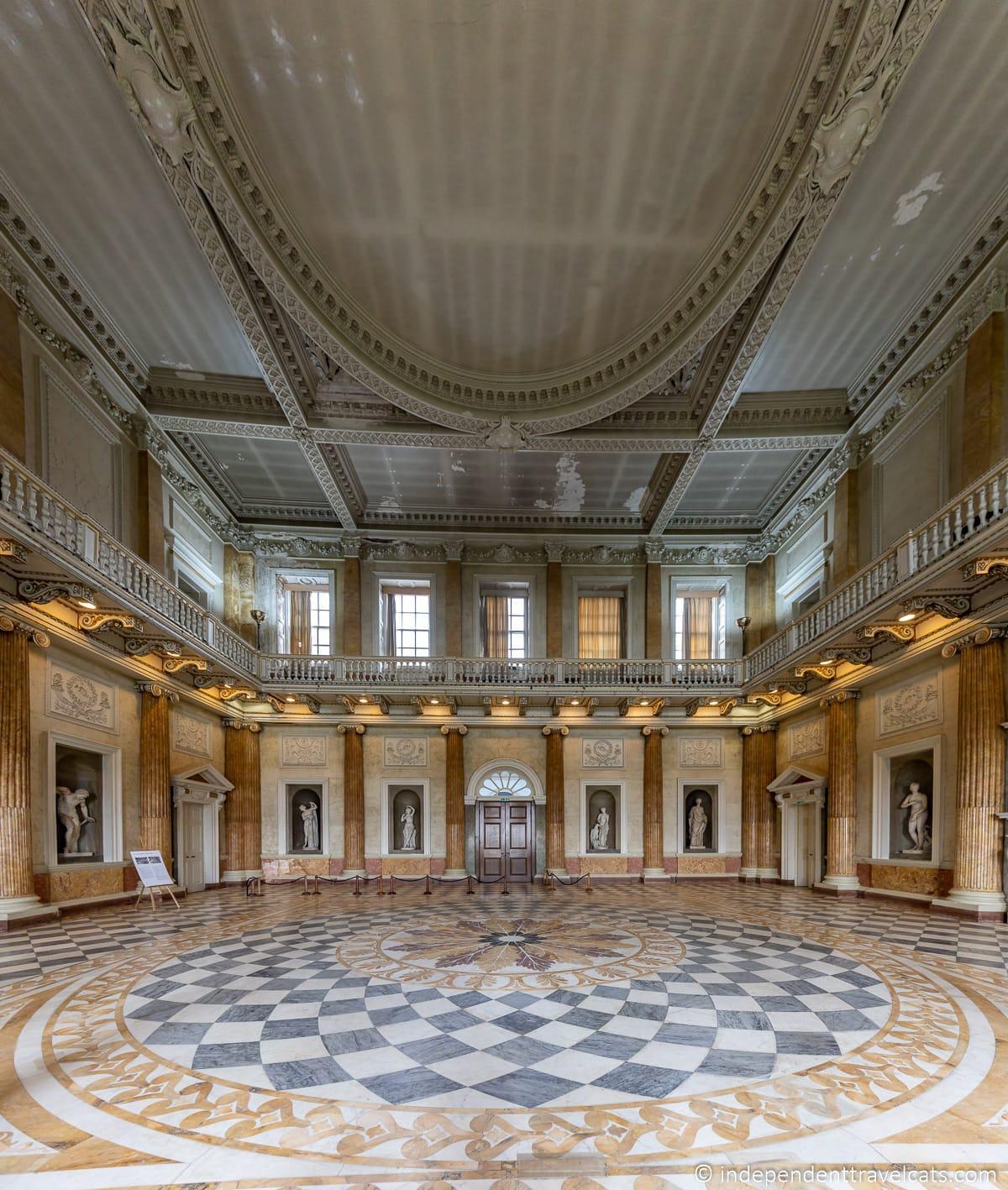Marble Saloon Wentworth Woodhouse Marble Hall ballroom