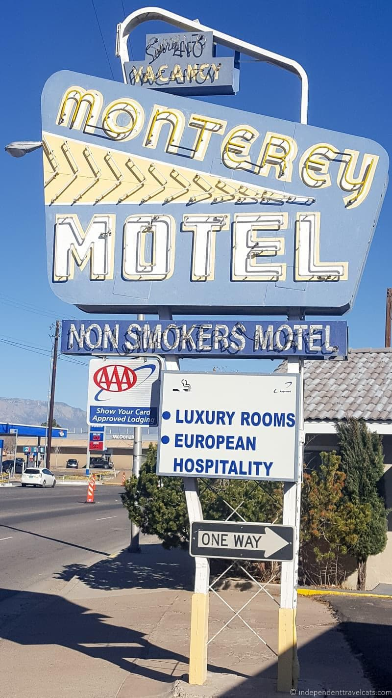 Monterey Motel Route 66 in Albuquerque New Mexico highlights