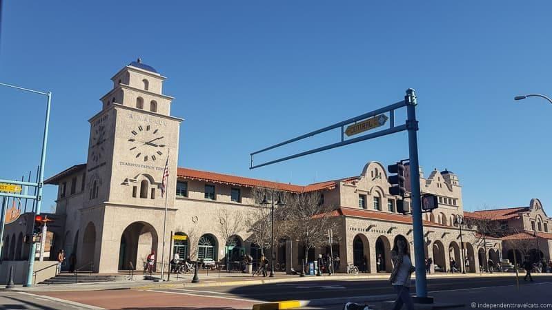 Alvarado Transportation Center Route 66 in Albuquerque New Mexico highlights