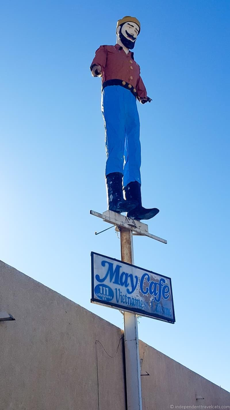 May Cafe lumberjack Route 66 in Albuquerque New Mexico highlights