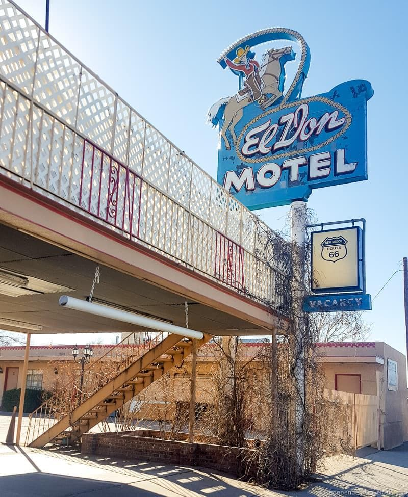 El Don Motel Route 66 in Albuquerque New Mexico highlights
