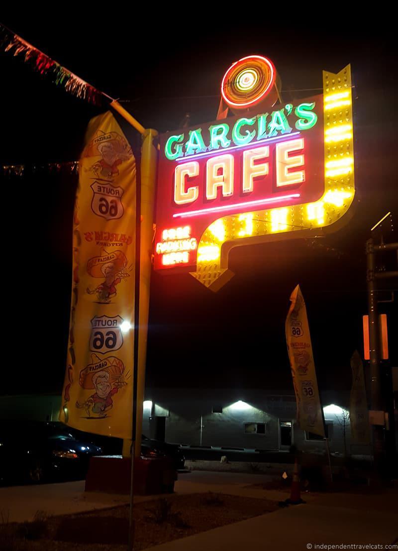 Garcia's Cafe Route 66 in Albuquerque New Mexico highlights