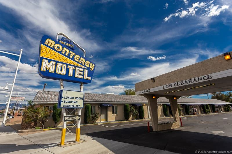 Monterey Motel Route 66 in Albuquerque New Mexico attractions