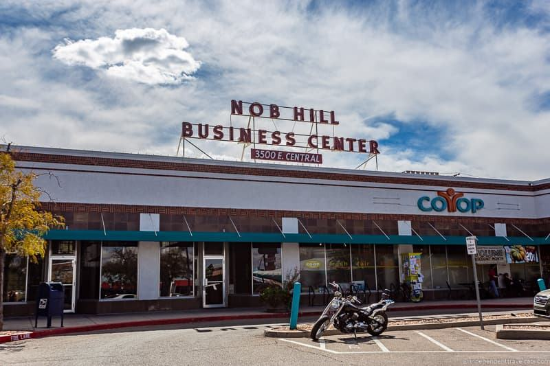 Nob Hill Business Center Route 66 in Albuquerque New Mexico attractions