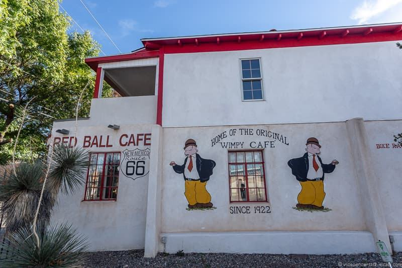 Red Ball Cafe Route 66 in Albuquerque New Mexico attractions