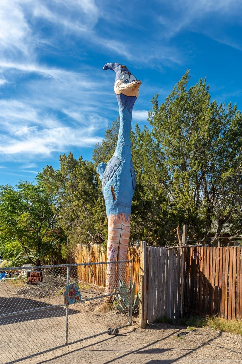 giant roadrunner statue Route 66 in Albuquerque New Mexico attractions