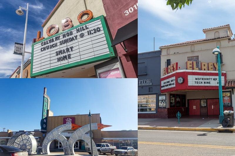 Albuquerque theaters Route 66 in Albuquerque New Mexico attractions