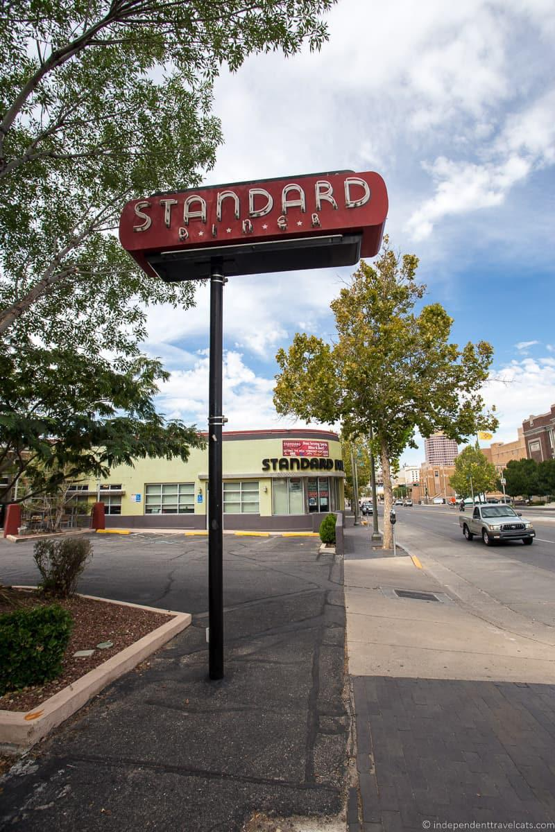 Standard Diner Route 66 in Albuquerque New Mexico highlights