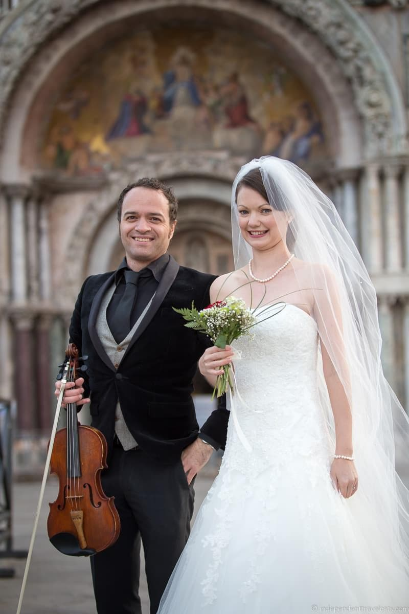 violinist wedding in Venice wedding day Jessica Norah