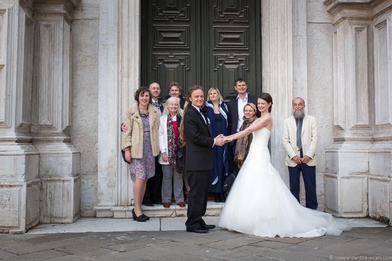 wedding in Venice wedding day Jessica Norah Laurence Norah